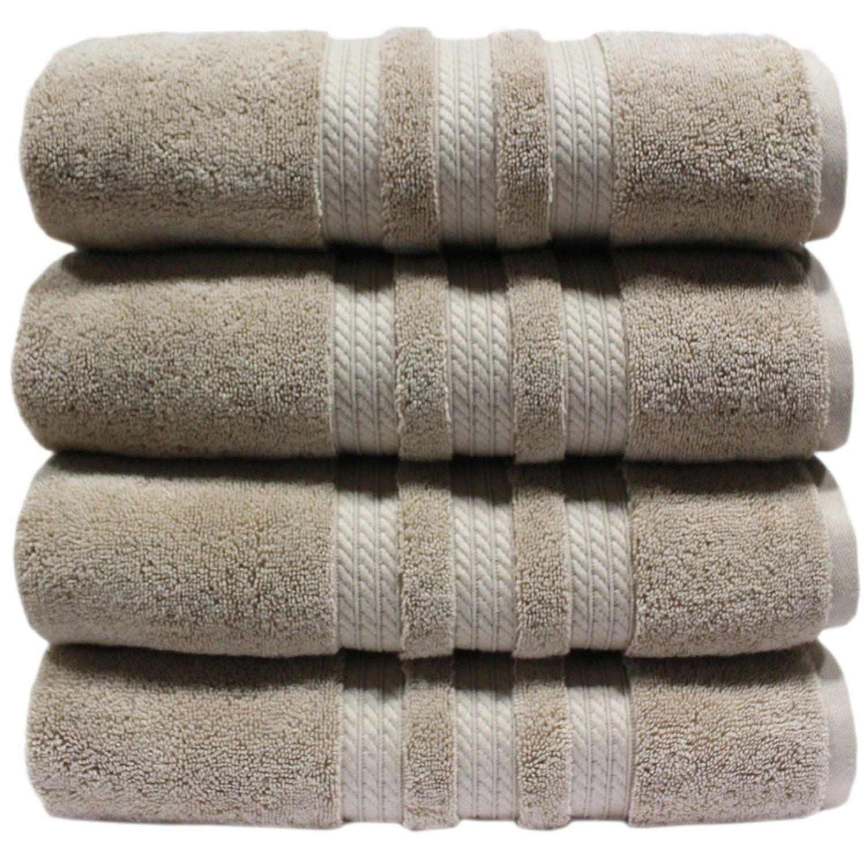 """100% Cotton Luxury Bath Towel - 30"""" x 58"""" - Linen"""