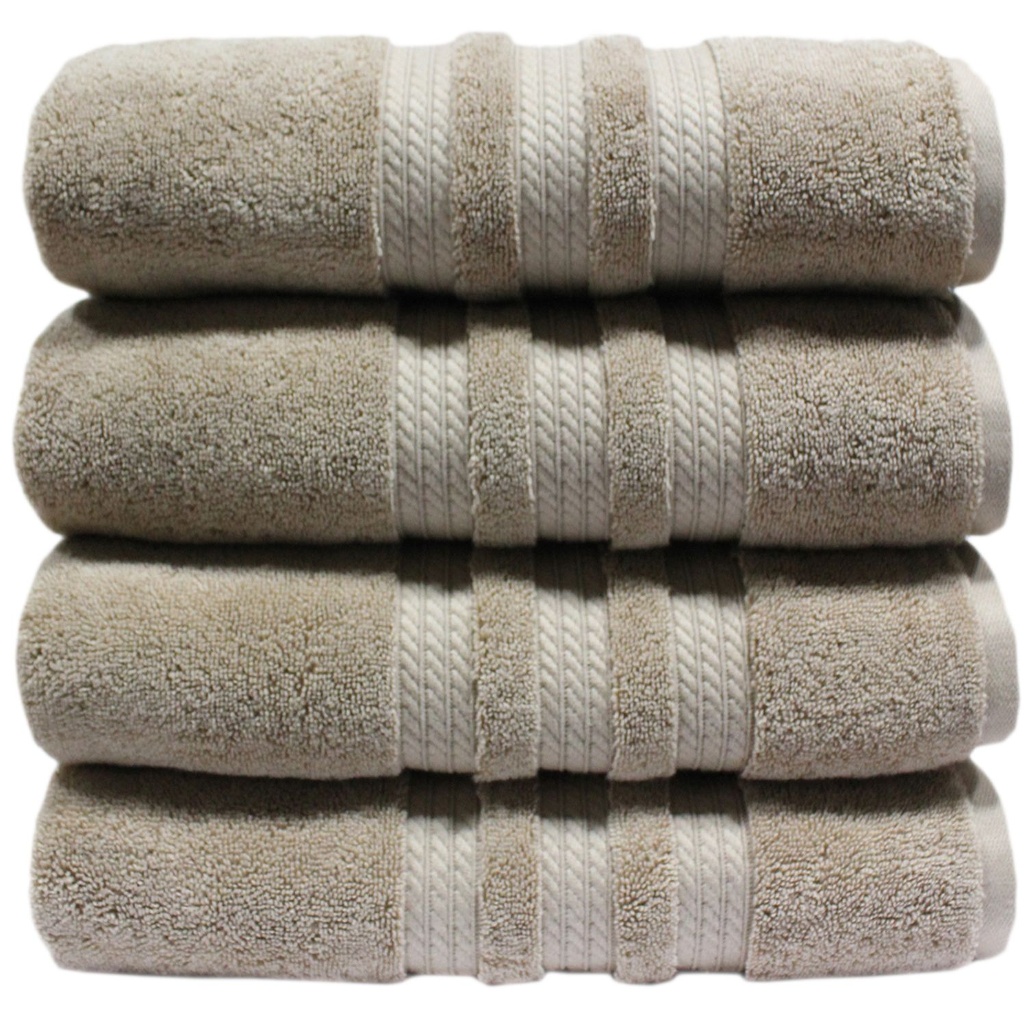 "100% Cotton Luxury Bath Towel - 30"" x 58"" - Linen"