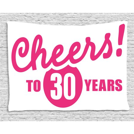 30th Birthday Decorations Tapestry Cheerful Happy Special