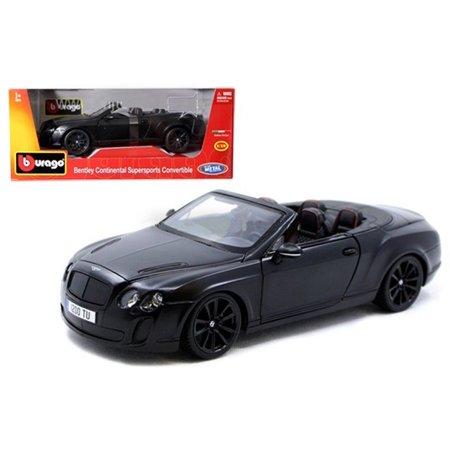 Bentley Metal (BBURAGO DIAMOND BENTLEY CONTINENTAL SUPER SPORTS CONVERTIBLE 1/18 DIECAST)