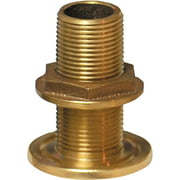 Groco TH Bronze Standard Length Through-Hull with Nut, NPS Thread