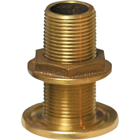 Groco TH Bronze Standard Length Through-Hull with Nut, NPS