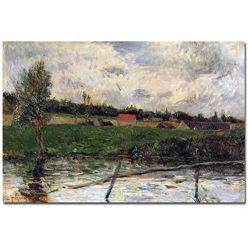 "Trademark Art ""Brittany Landscape, 1879"" Canvas Art by Paul Gaugin"