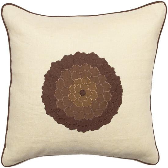 "8"" Lotus Flower Cream  Decorative Throw Pillow"