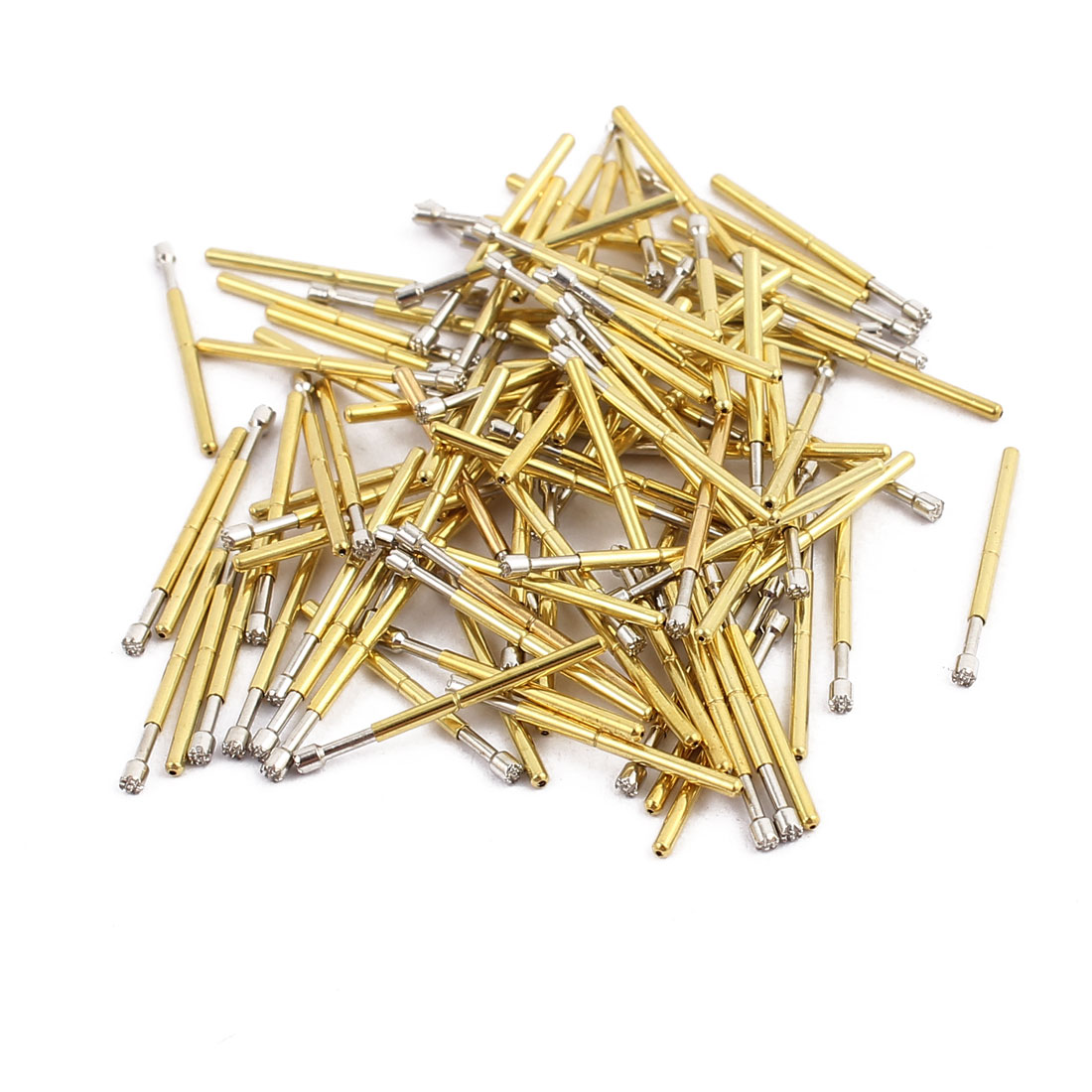 100pcs P75-H2 1.0mm Dia 16.5mm Length Metal Spring Pressure Test Probe Needle