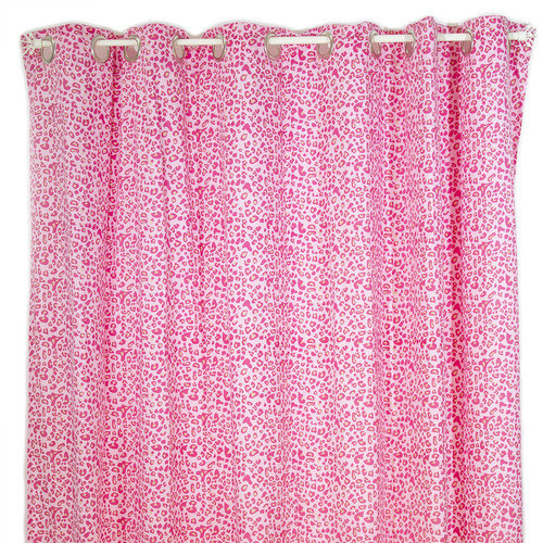 Pam Grace Creations Tabby Cheetah Cotton Shower Curtain