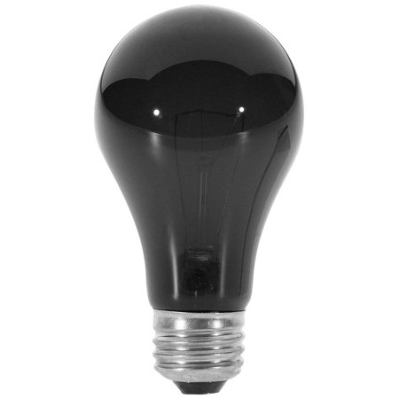 Satco S3920 75 Watt A19 Incandescent Light Bulb, Black Light (Black Light Bulb)