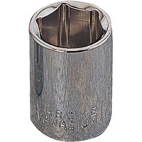 Vulcan Socket, 1/4 In Drive, 1/4 In, 6 Point, Chrome Vanadium Steel, Chrome