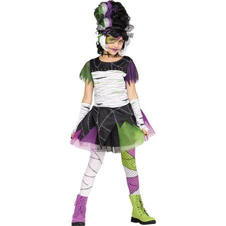 Monster Bride Girls Child Frankenstein Halloween Monster Costume (Kids Frankenstein Costumes)