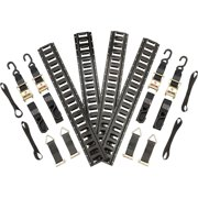 Cruiser V-Twin Motorcycle 16pc E-Track Trailer Strap Tie-Down Kit
