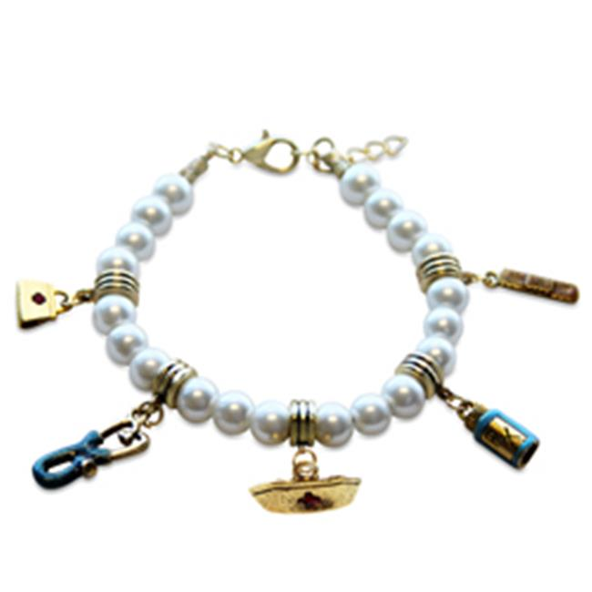 Whimsical Gifts 1400G-BR Nurse Charm Bracelet In Gold