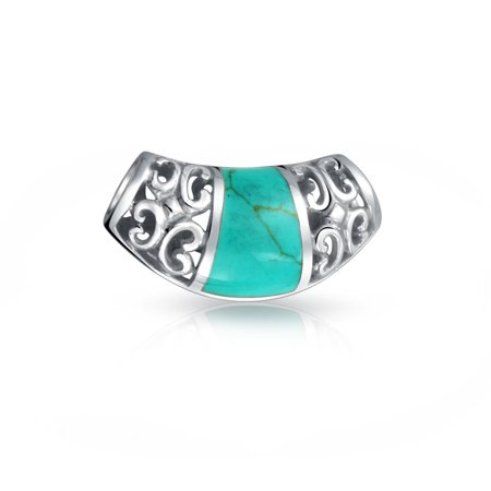 Inlay Filigree (Filigree 925 Silver Reconstituted Turquoise Inlay Pendant)