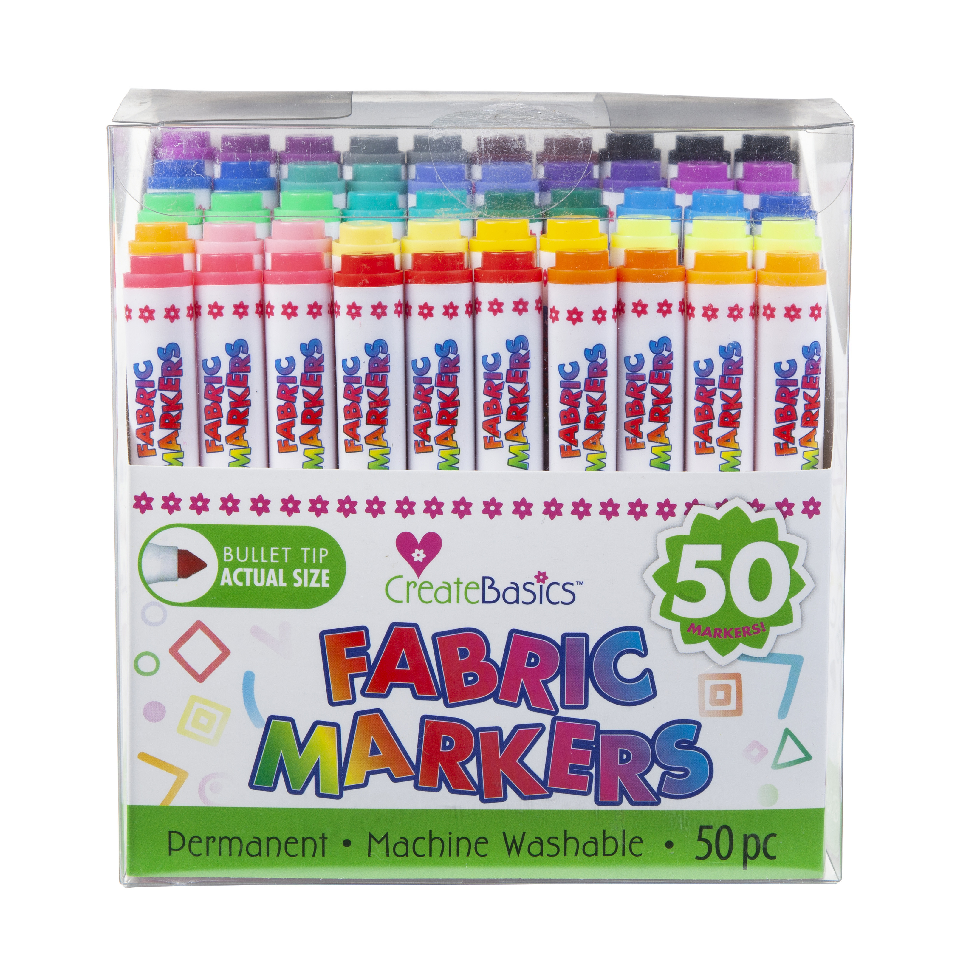 Create Basics Fabric Markers 50 Pack