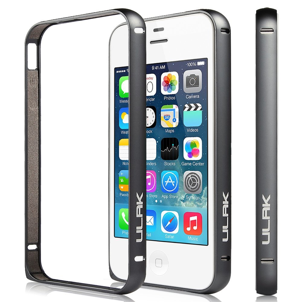 ULAK Slim Lightweight Aluminum Metal Protective Frame Bumper Case for iPhone 4 4S without Back Panel