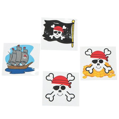 Pirate Tattoos 72 Per Package, Assorted Styles, 72 ~ Pirate Temporary Tattoos ~ Approx. 1.5