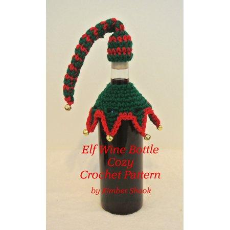 Elf Wine Bottle Cozy Crochet Pattern - - Halloween Crochet Coffee Cozy