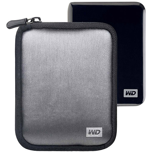 Western Digital WDBABK0000NBK-WRSN Soft Carrying Case for My Passport Portable Hard Drives, Black