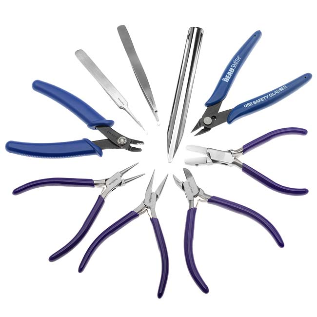 Beadsmith Deluxe Jewelry Pliers Tool Kit 9 Piece with Case