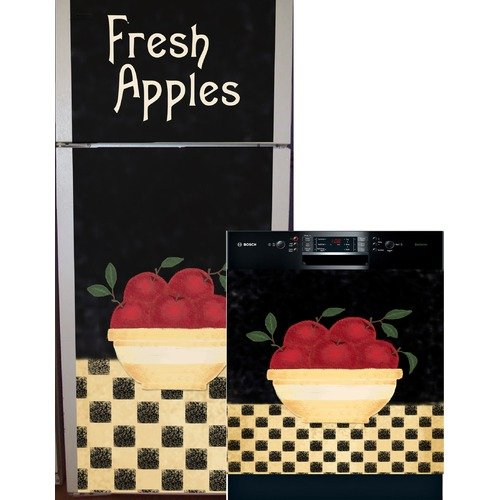 Appliance Art Apple Bowl Top and Bottom Refrigerator and Dishwasher Cover
