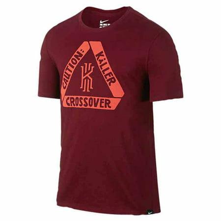 Nike Mens Kyrie Irving Cavs  Caution  Killer Crossover  T Shirt Maroon