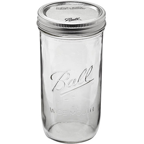 Ball 9-Count 24-Ounce Wide Mouth Jars with Lids and Bands