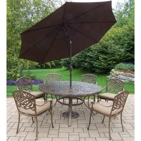 Oakland Living 9 Pc Traditional Patio Dining Set