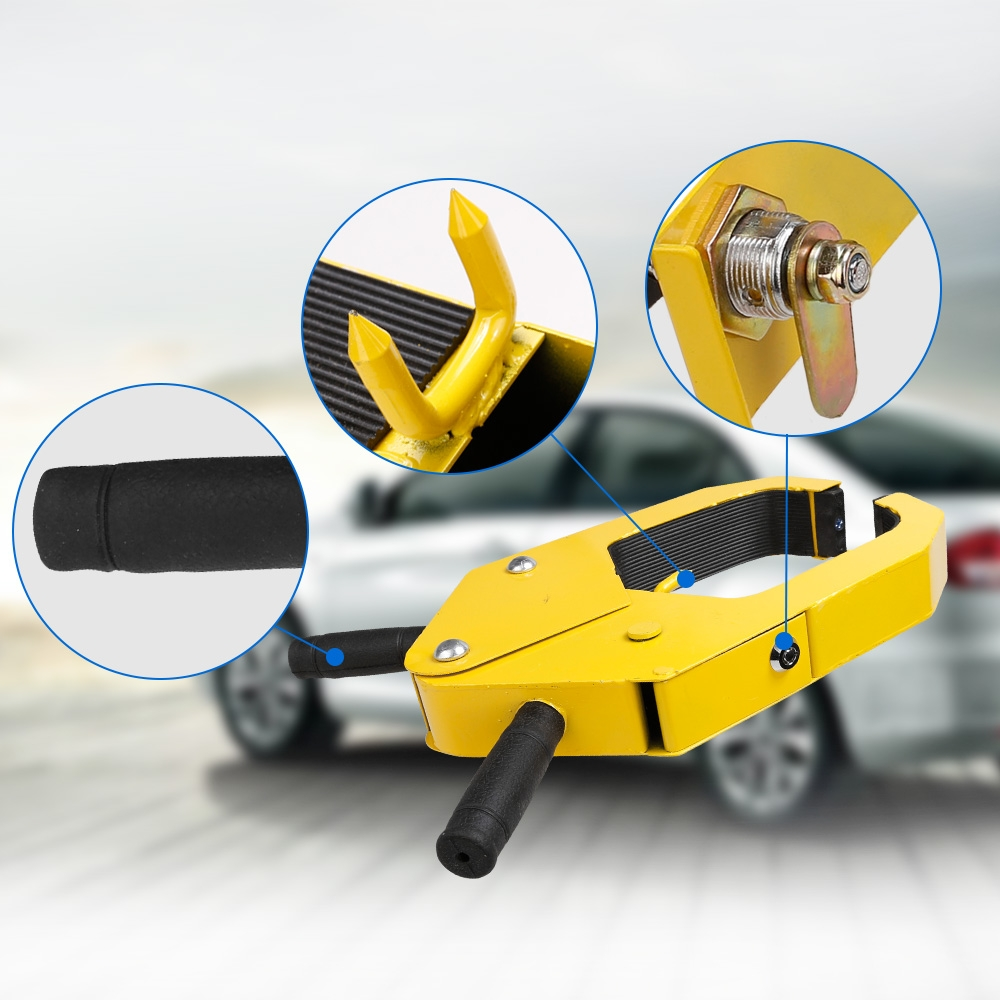 Auto Car Steel Wheel Lock Anti-Theft Towing Security Lock HITC