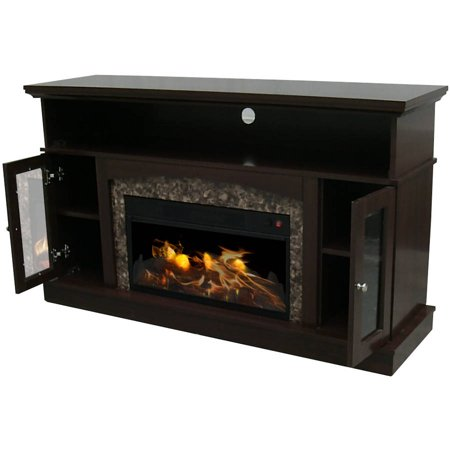 Decor flame electric fireplace for tvs up to 60 for Decor flame electric fireplace