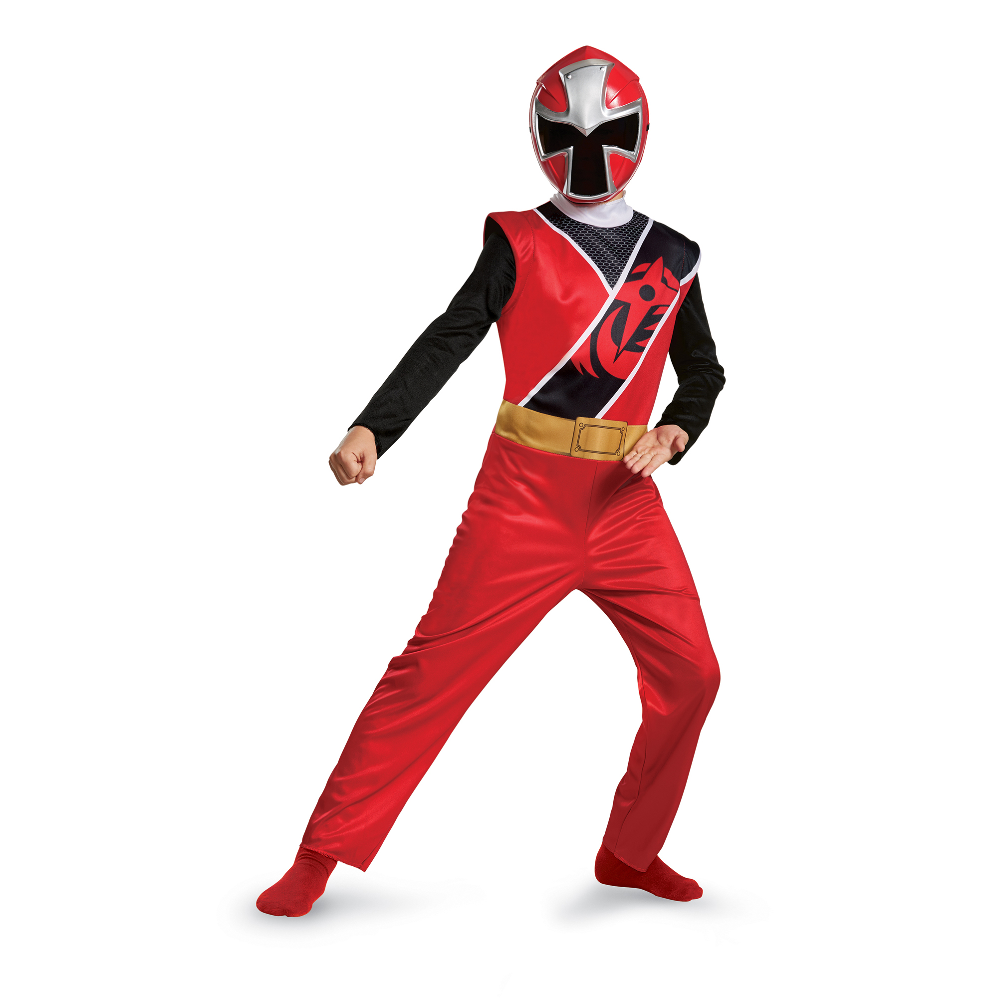 Power rangers ninja steel boys' red ranger basic costume Small (4-6)