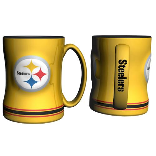 Pittsburgh Steelers 14oz Yellow Sculpted Relief Coffee Mug