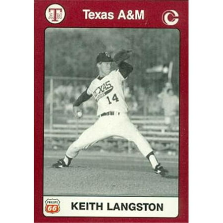 Keith Langston Baseball Card (Texas A&M) 1991 Collegiate Collection - Autographed Baseball Magazines