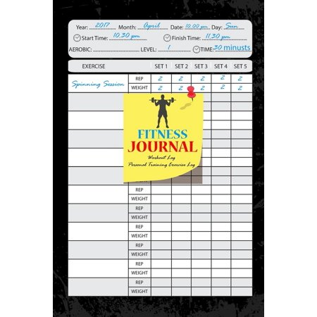 Fitness Journal: Workout Log: Personal Training Exercise Log: Weight Loss: Notebook 6x9 Inch 105 Page: Fitness Journal and Diary Workout Log: Gym Training Log Book (Best Gym Diary App)