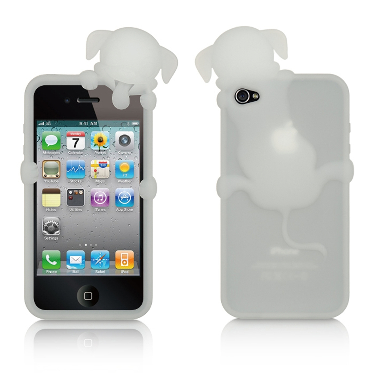iPhone 4s case by Insten Rubber Silicone Soft Skin Gel Case Cover For Apple iPhone 4/4S