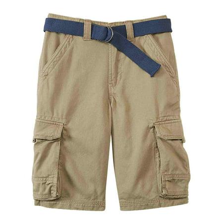 Canyon River Blues Boys Khaki Tan Cargo Shorts & Blue Belt ...