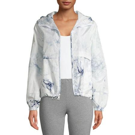 Kendall + Kylie Women's Tie Dye Anorak Windbreaker Jacket Summer Riding Jacket