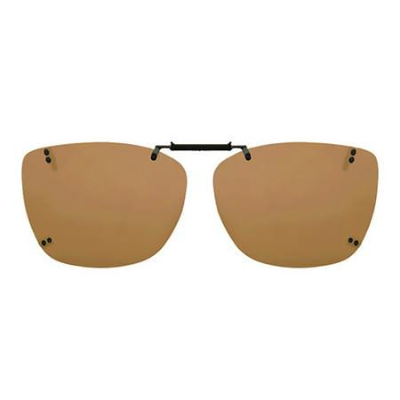 Solar Shield Unisex Rimless Polarized Driving SolarShield ClipOn Sunglasses