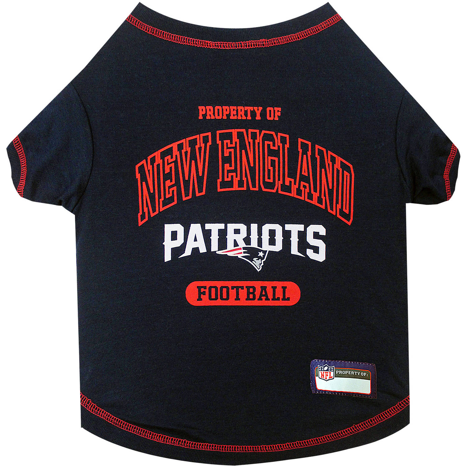 Pets First NFL New England Patriots Pet T-shirt, Assorted Sizes