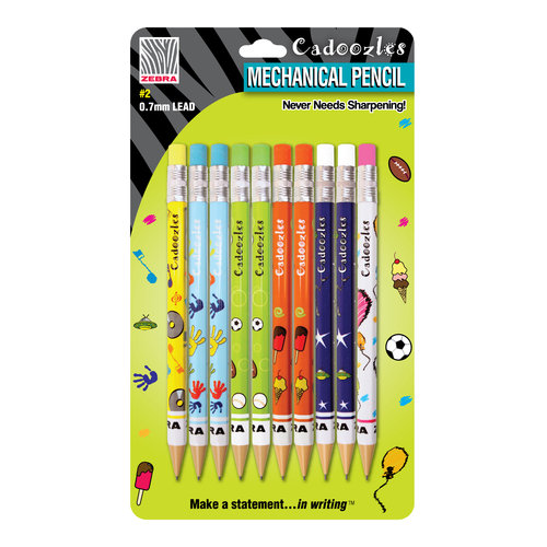 Cadoozles Mechanical Pencils, Assorted, 10pk