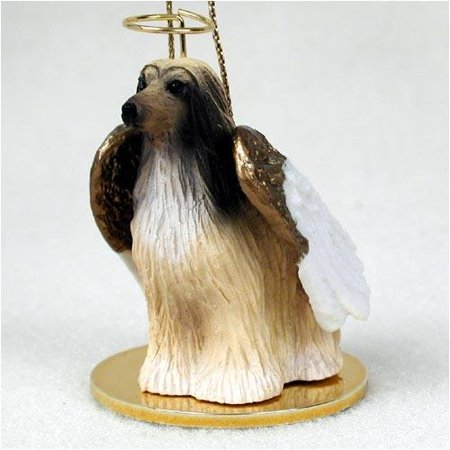 Afghan Hound Tan/White Tiny Ones Dog Angels (2 in), Each figurine is carefully hand painted for that extra bit of realism. By Conversation Concepts Ship from US