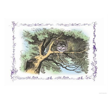 Alice in Wonderland: The Cheshire Cat Print Wall Art By John Tenniel ()