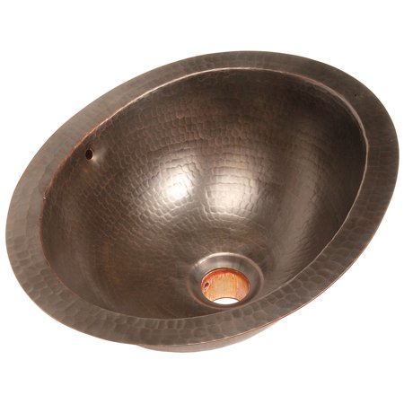 Belle Foret Small Oval Vessel Sink-Weathered Copper - Walmart.com