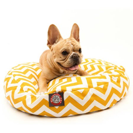 Majestic Pet Chevron Small Round Outdoor Indoor Pet Bed Removable Cover