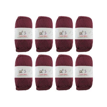 103 Yarn (BambooMN Brand - Cotton Select Yarn - 10 Skeins - Col 003 - Plum)