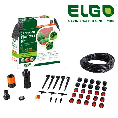 Dragonfly Dripper - Elgo 25 Dripper Planters Kit for gardens and patio plants