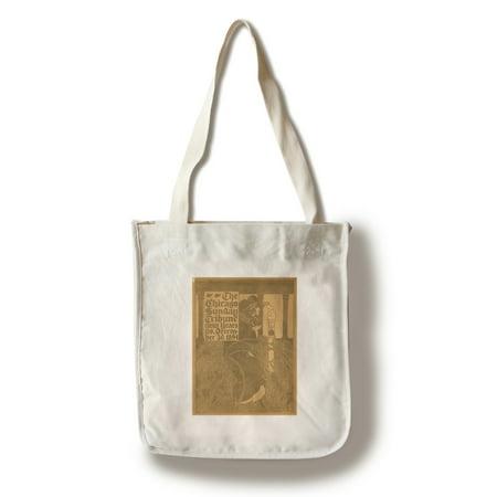Chicago Sun Tribune Vintage Poster  Artist  Bradley  Usa C  1894  100  Cotton Tote Bag   Reusable