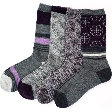Kirkland Signature Ladies' Trail Socks Merino Wool, 4 Pairs,