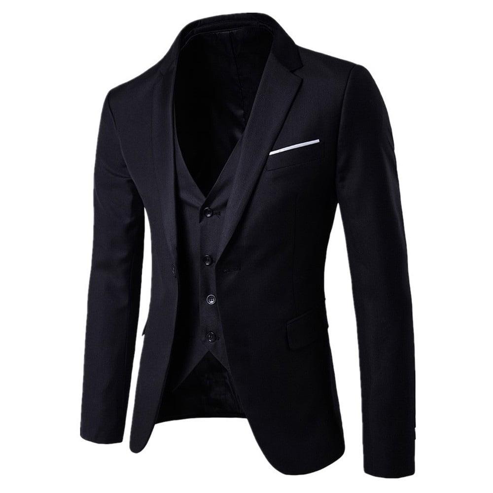 Men Coat Suits One Button Slim Fit Printing Youth Wedding Blazer Vest Pant 3Pcs