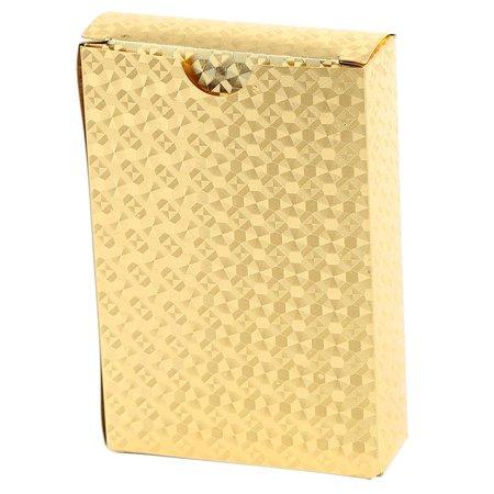 Herwey Jeu de poker enduit de jeu de tisonnier enduit de feuille d'or en plastique imperméable durable, cartes de tisonnier, cartes à jouer - image 2 de 6