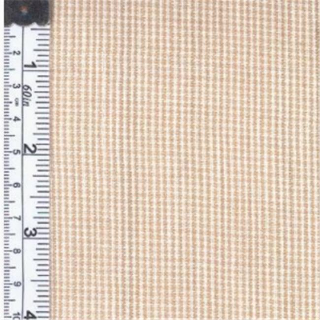 Textile Creations 1406 Rustic Woven Fabric, Fine Check White And Tan, 15 yd.