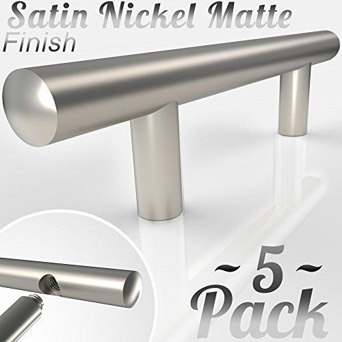 Electro Hardware Round Handle 2 Pack Nickel Plated 6 Center to Center Brass